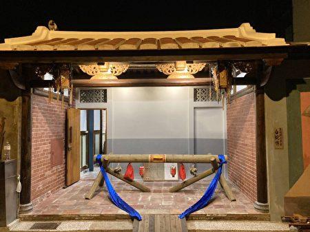 館內展示早期木造屋樑
