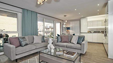 Aura小區新公寓的典型内飾風格