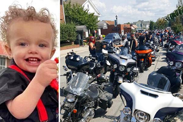 兩歲男童洪水中喪生 近2千摩托車手護送靈車