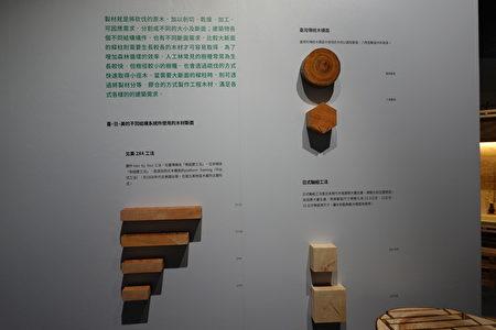 台日美不同结构系统所使用的木材断面比较。