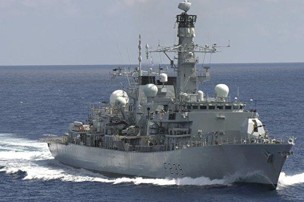 英軍艦「里士滿」號罕見穿越台灣海峽