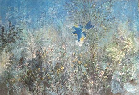 1993年高永隆到西藏隨喇嘛習畫及在新疆臨摹壁畫,並投入膠彩(岩彩)創作。