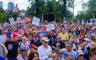 不打疫苗就解僱 波士頓數千人抗議強制令