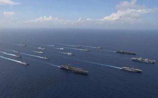 遏制中共軍機擾台 美英三航母沖繩海域軍演