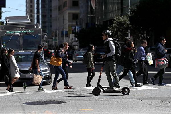 旧金山共享微型交通 疫情爆发后更蓬勃发展