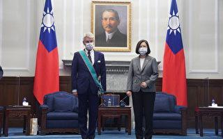 会见法议员李察 蔡英文:台湾将确保区域安全