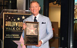 组图:英国演员克雷格获颁好莱坞星形奖章