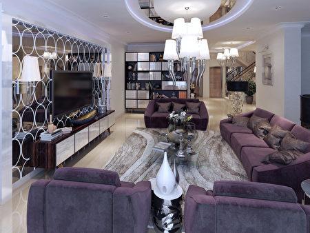 Living,In,A,Luxury,Modern,Style.,3d,Render