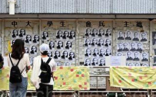 香港中大民主牆貼滿孫中山及錢穆照片