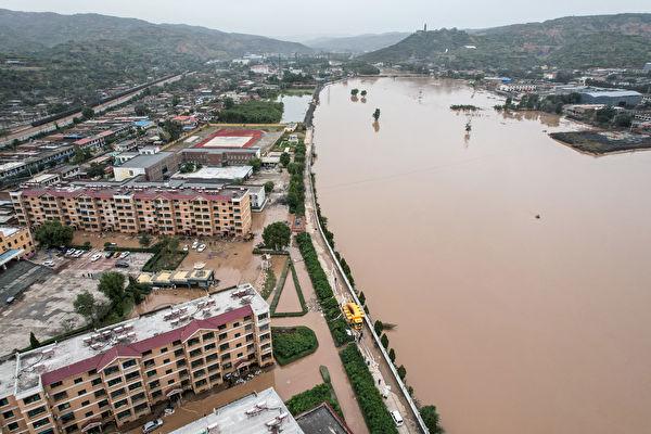 組圖:暴雨引發洪水 山西逾175萬人受災