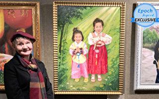 波蘭女藝術家用畫筆為中國兒童的苦難發聲