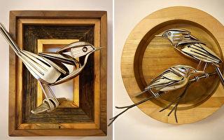 組圖:用廢金屬打造的動物雕塑 惟妙惟肖