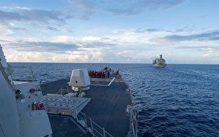 美军证实美加军舰联合通过台湾海峡