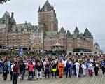 加国魁省推疫苗护照 逾千员工组人链静默抗议