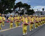 新州哥倫布日遊行  華人腰鼓隊一路贏得喝彩