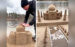 意大利艺术家走遍世界 创作精致非凡的沙雕